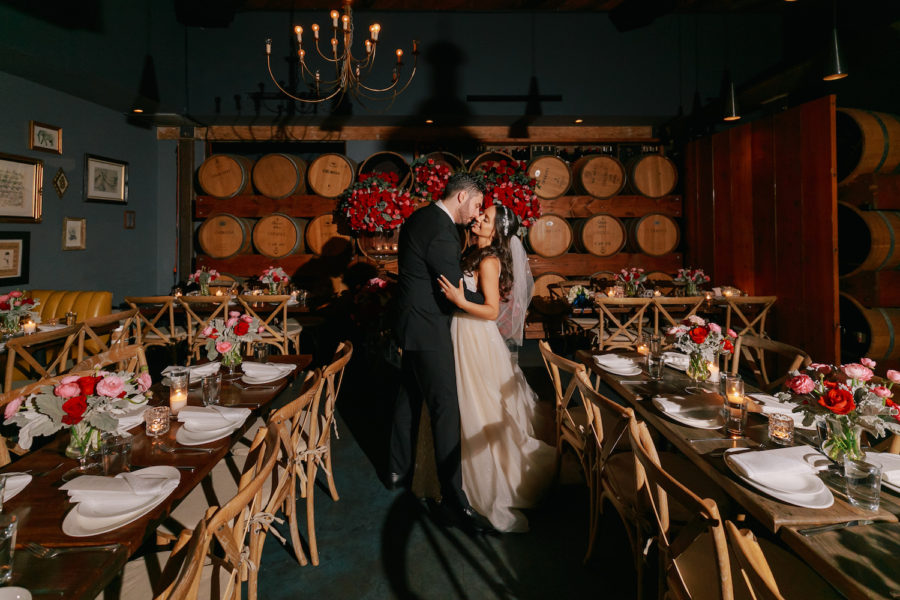 Sona + Armen | Romantic Red & Blush Wedding at Madera Kitchen