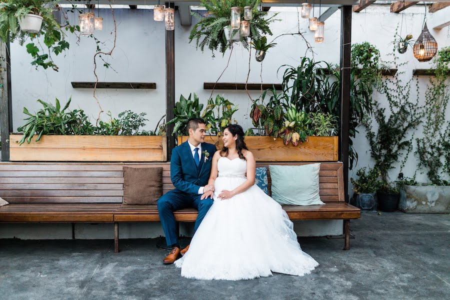 Brian + Erika | Elegant White Wedding