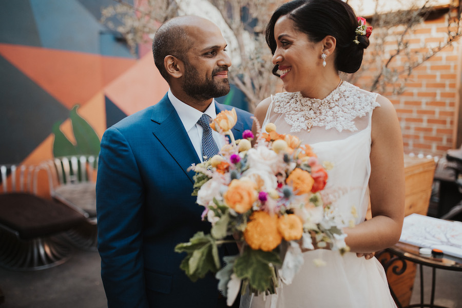Erica + Rahul   Vibrant Wedding At Madera Kitchen