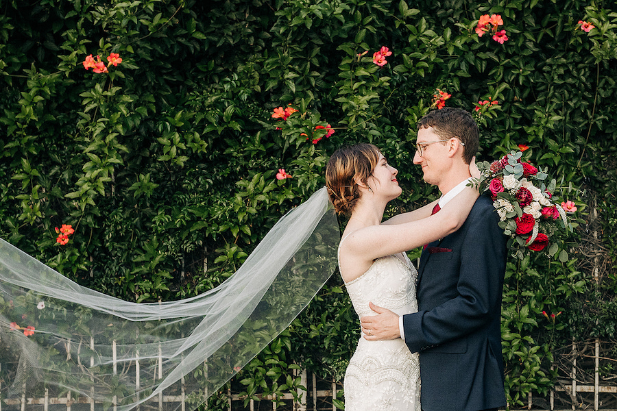 Tim + Laura | Romantic Burgundy Wedding