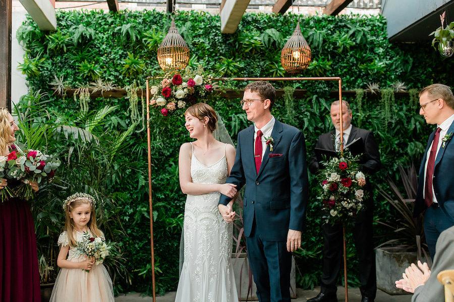 Tim + Laura   Romantic Burgundy Wedding