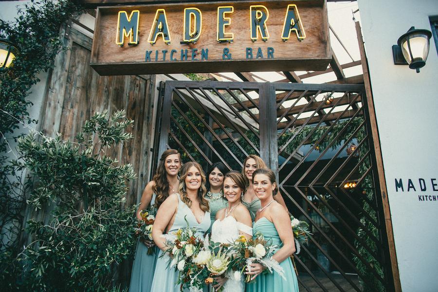 Bridesmaids at Madera Kitchen wedding