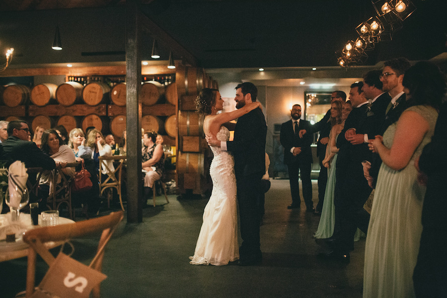 Bride and groom first dance at Madera Kitchen
