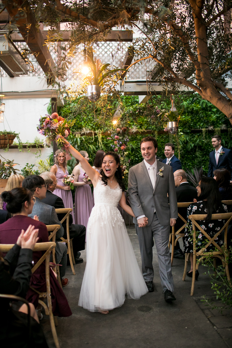 Madera Kitchen wedding ceremony romantic garden