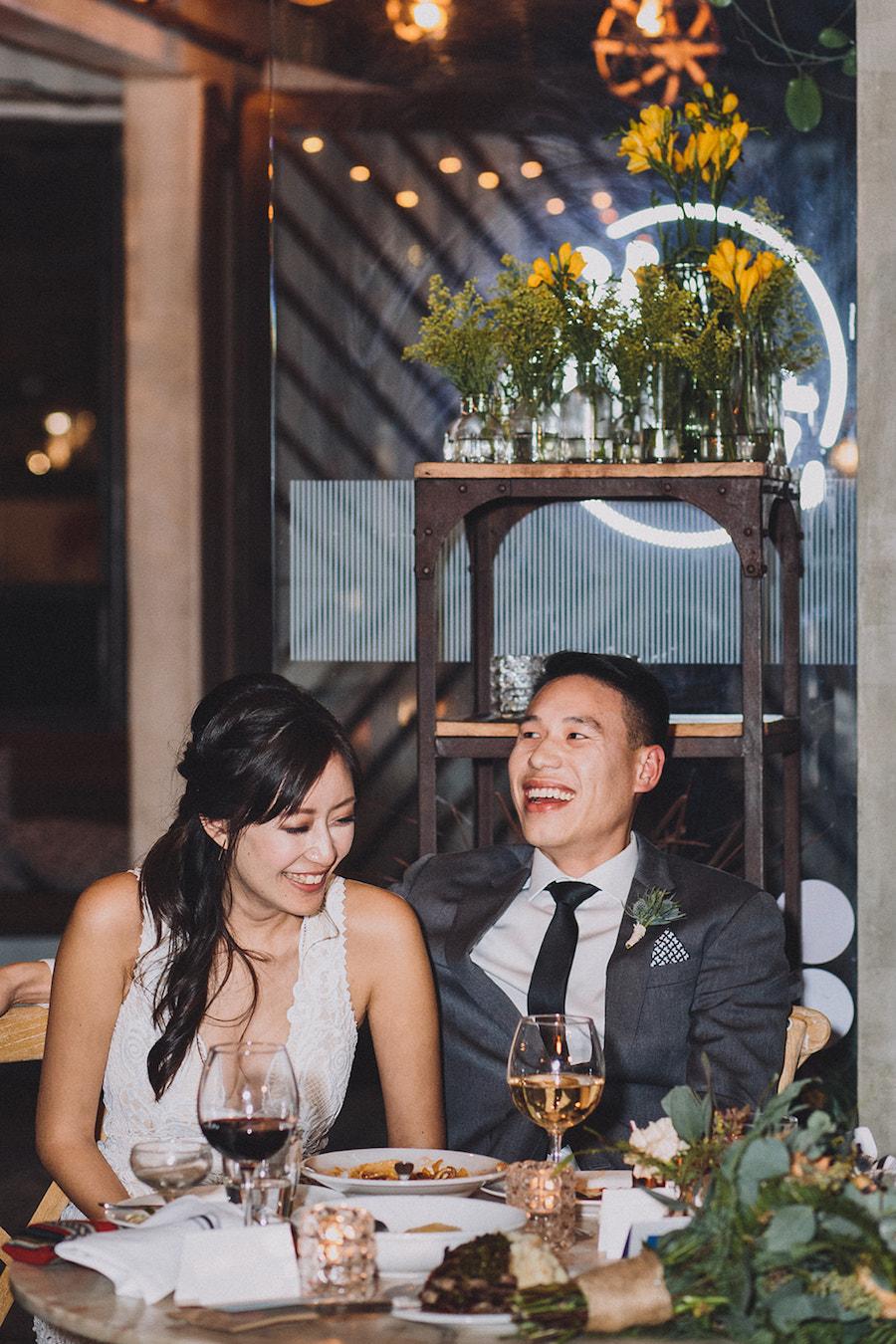 Bride and groom at Madera Kitchen