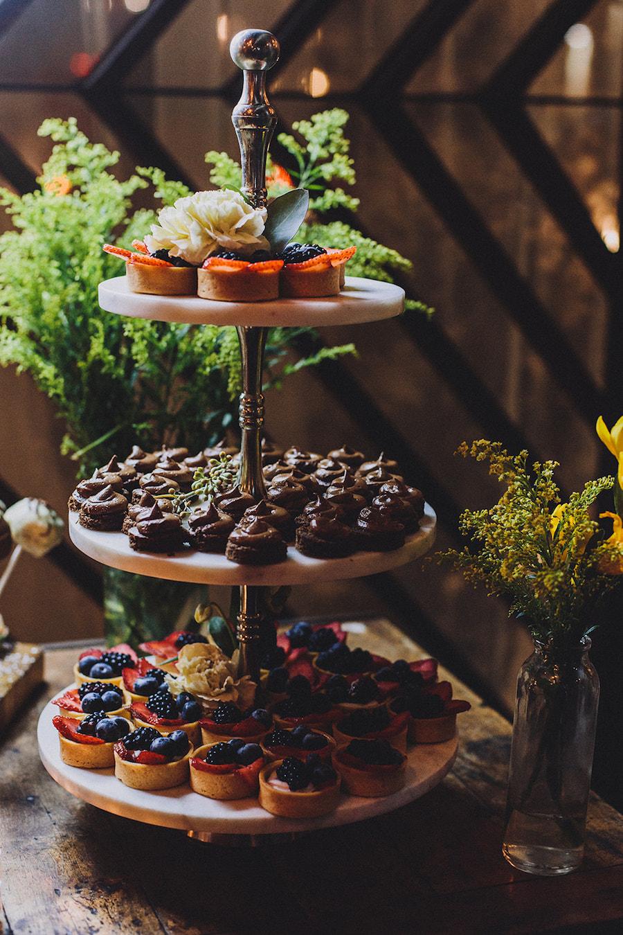 Madera Kitchen wedding dessert table