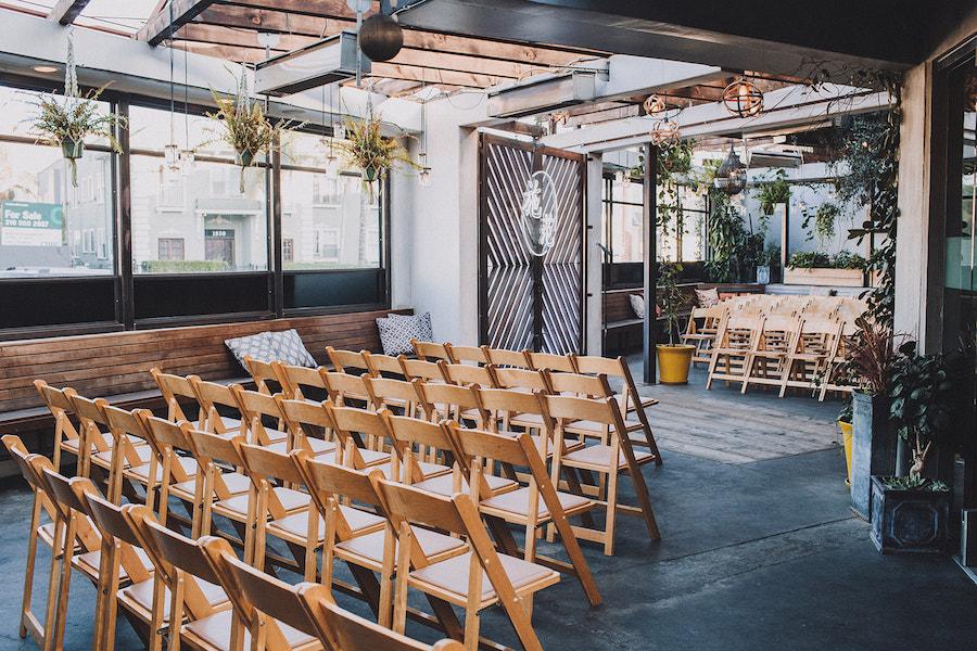 Madera Kitchen wedding ceremony