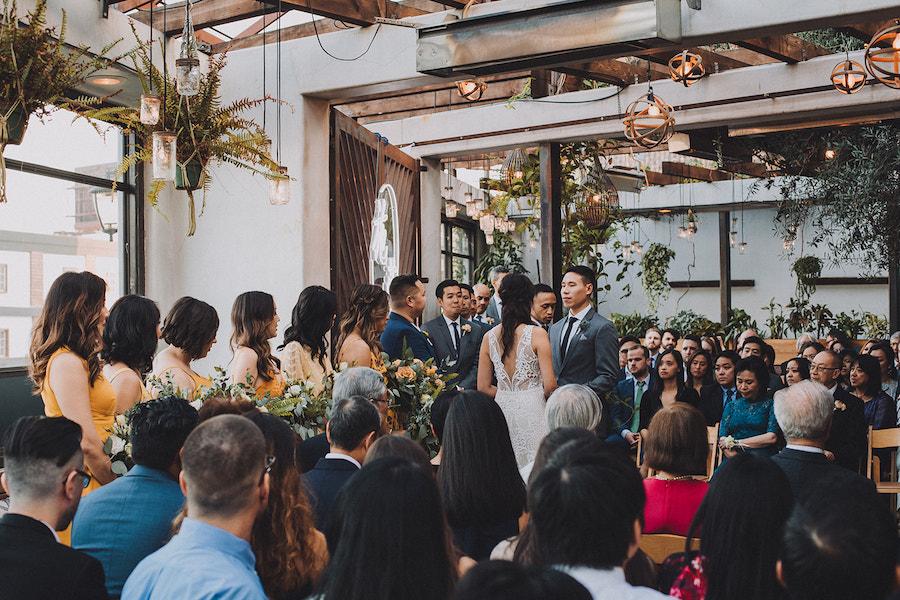 Sabrina + Ben | Geometric Gradient Wedding