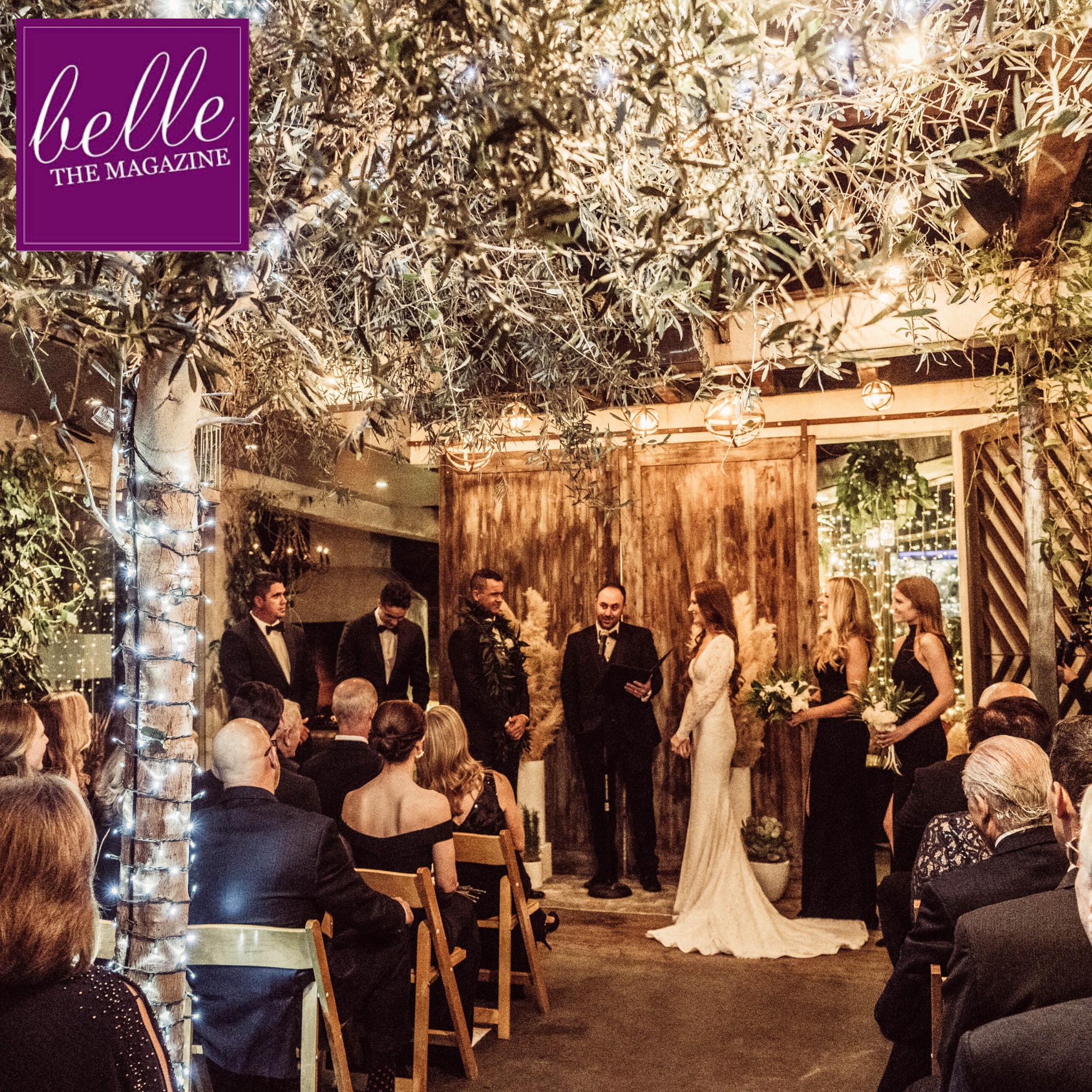 bride and groom married at madera kitchen featured on belle the magazine