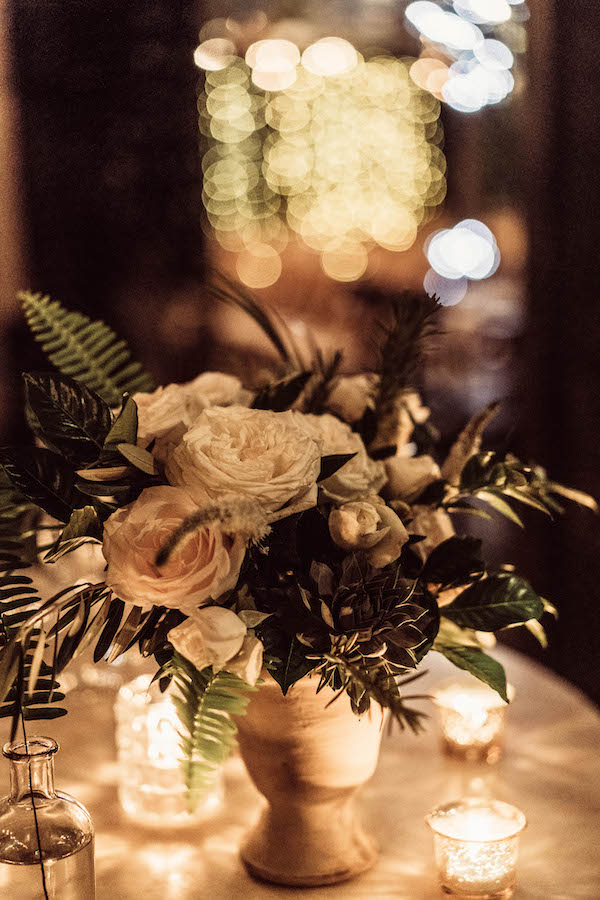 centerpiece arrangement for rustic wedding at madera kitchen la