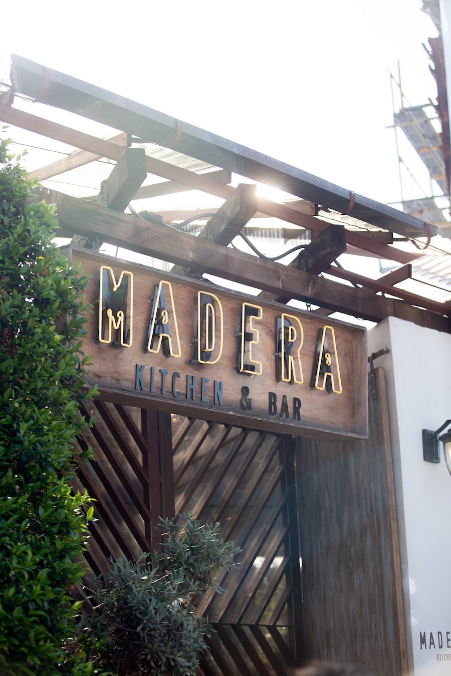 restaurant front at madera kitchen in los angeles
