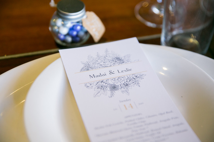 reception dinner menu at madera kitchen los angeles
