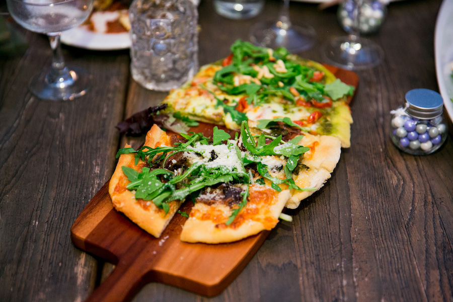 flatbread pizza at madera kitchen los angeles