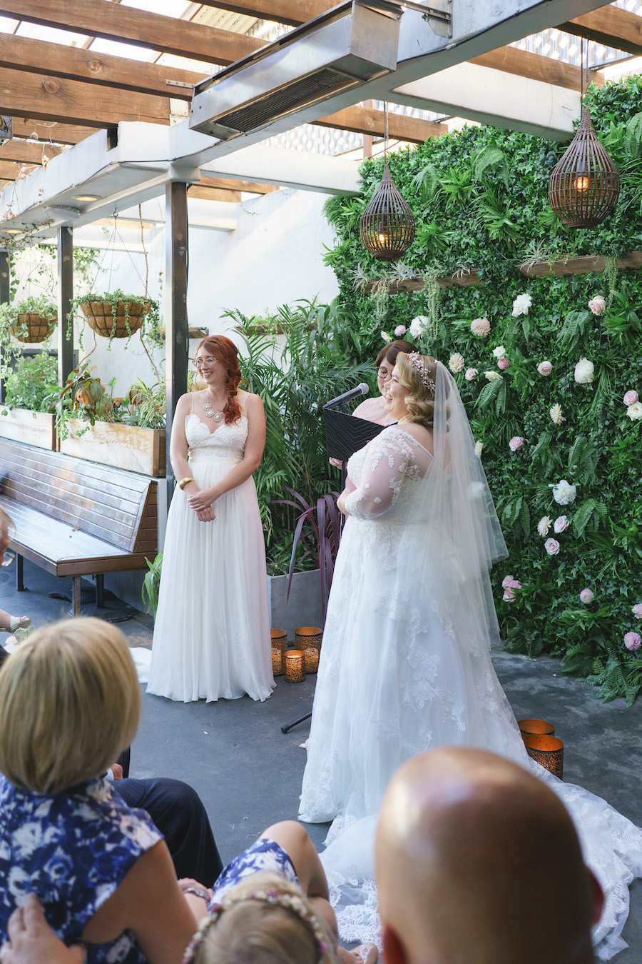 brides getting married at madera kitchen la