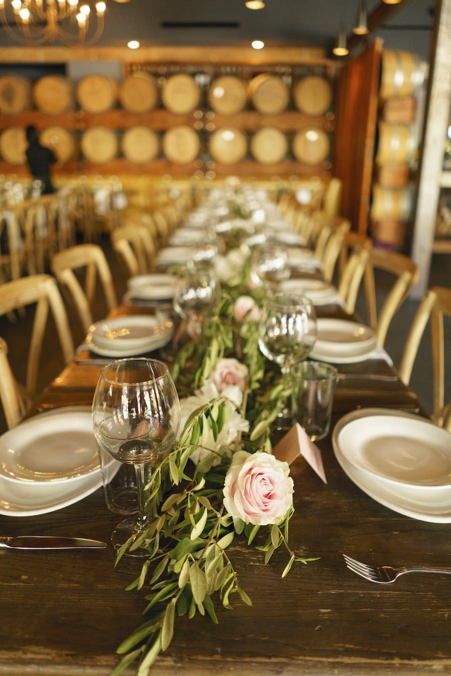tabletop decor at wedding reception in los angeles