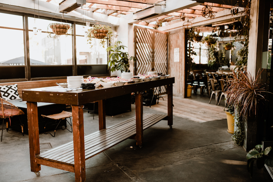 boho venue space in restaurant in hollywood