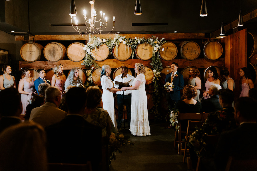 couple getting married at madera kitchen la