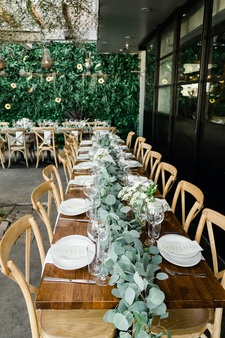 wedding tabletop decor at boho wedding venue