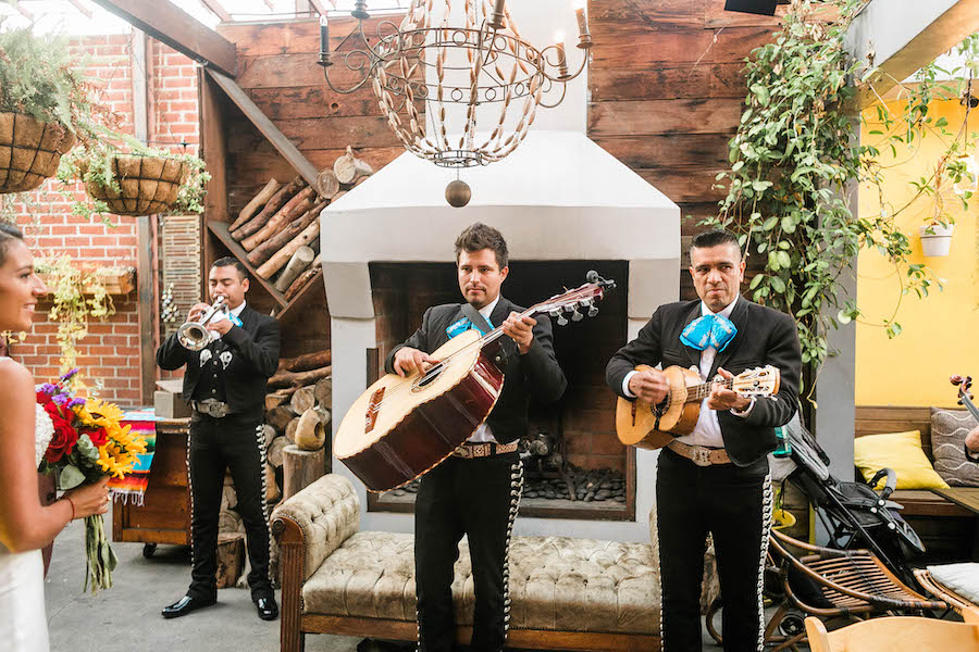 mariachi band at wedding reception